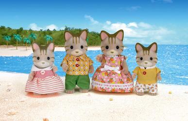 Sylvanian Families Набор Семья полосатых кошек