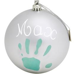 Новогодний шар с отпечатком (серебряный) Baby Art