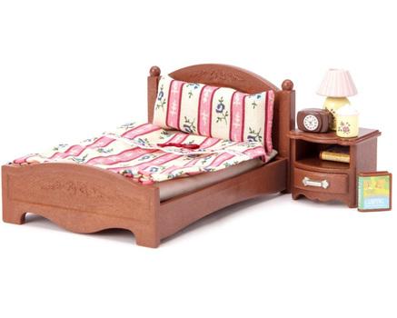 Sylvanian Families Набор Большая кровать и тумбочка