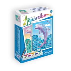SentoSphere Акварельная раскраска Дельфины