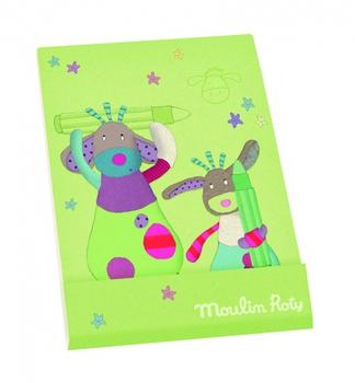 Зелёная записная книжка Moulin Roty