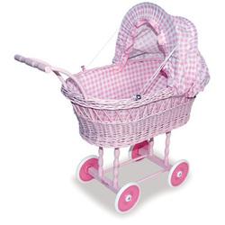 Коляска для кукол розовая Petitcollin