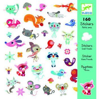 160 наклеек Маленькие друзья DJECO