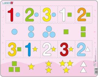 Пазл Цифры от 1 до 3-х, Larsen