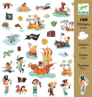 160 наклеек Пираты DJECO