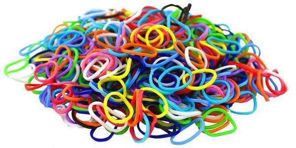 Резинки цветные Rainbow Loom