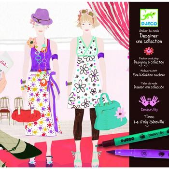 Раскраска Дизайнер одежды DJECO