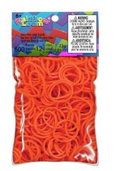Оранжевые гелевые резинки RAINBOW LOOM