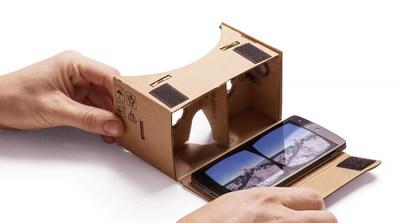 Google Cardboard VR картон COLOR