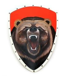 Щит треуг. расписной Медведь, Ратникъ