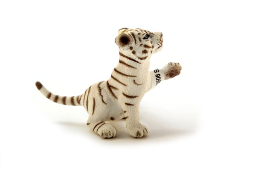 Тигрёнок белый, играет SCHLEICH