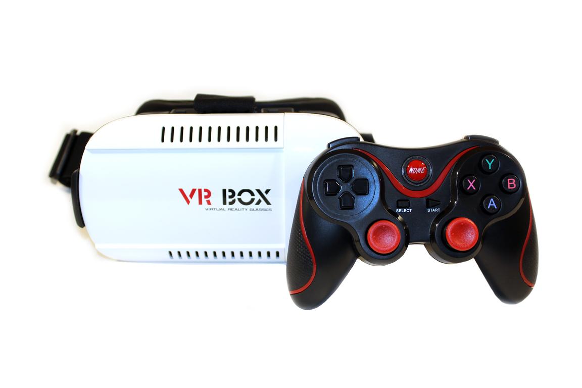 2 джойстика для очков виртуальной реальности колпак на камеру к коптеру phantom