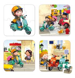 Набор пазлов На скутере Janod