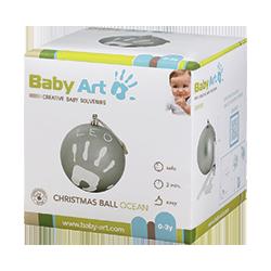 Новогодний шар с отпечатком (бирюзовый) BABY ART
