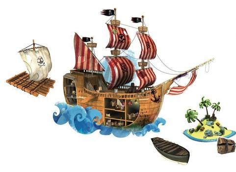 """Магнитный стикер """"Пираты"""" Janod"""
