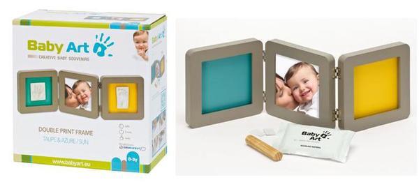 Рамочка тройная (серая) Baby Art