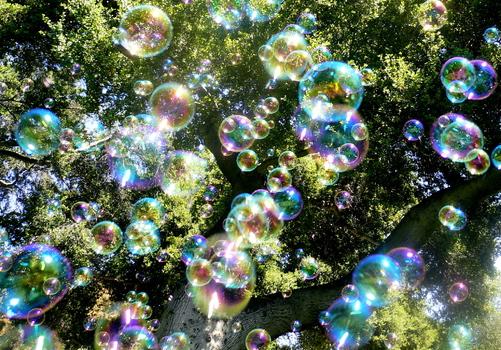 Нелопающиеся мыльные пузыри Gemeni