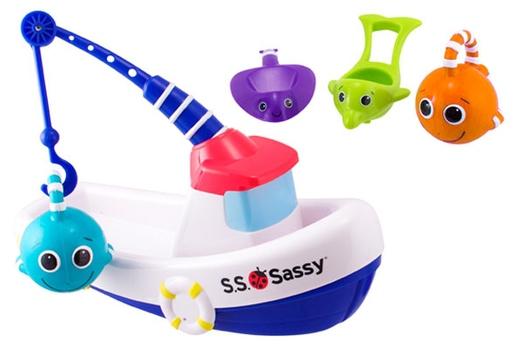 Игрушка для ванны Рыболовная лодка Sassy